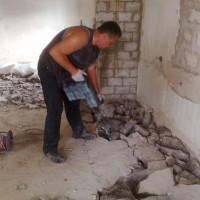 Демонтаж стен, полов, сооружений