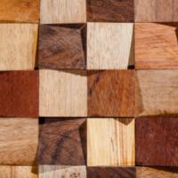 Мозаика из натурального дерева