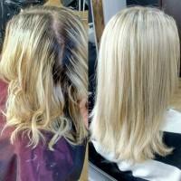Окрашивание корней волос (1-3 см)
